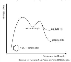 23388182113 Com base no texto e no gráfico do progresso da reação apresentada