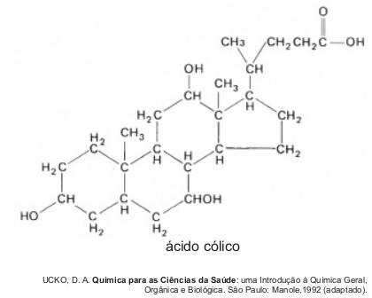 9205a74100f A combinação entre o ácido cólico e a glicina ou taurina origina a função  amida